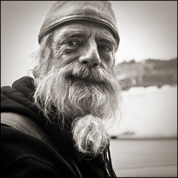 American Biker Project - Black and White Portrait