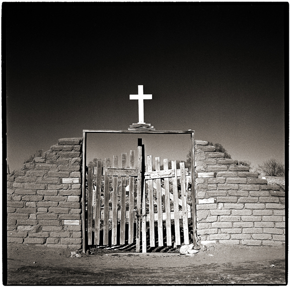 Taos Pueblo Burial Grounds - Black and White Photographs