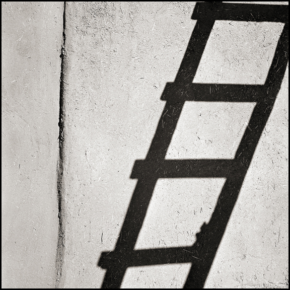 Ladder Acoma Pueblo - Black and White Photographs