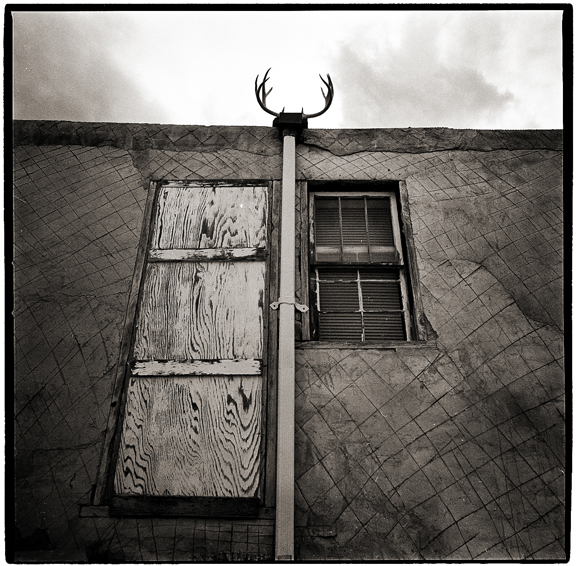 Antlers at Acoma Pueblo - Black and White Photographs