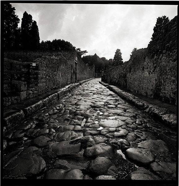 Black and White Photographs of the Pompeii